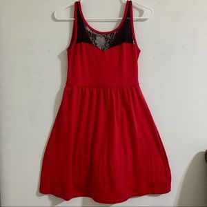 Red Lace Christmas Dress